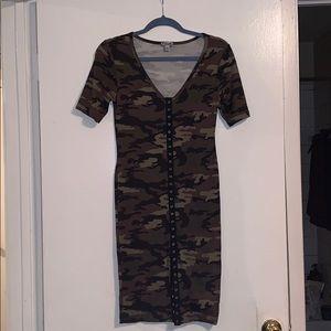 J for Justify Camo Print Midi Dress